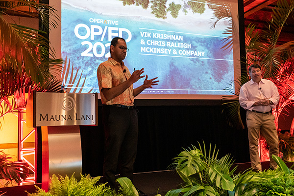 person speaking at the conference